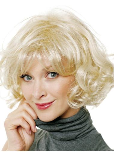 Braw Blonde Curly Chin Length Celebrity Wigs