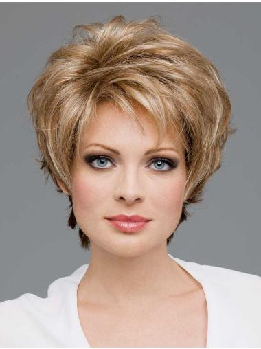 Boycuts Wavy Synthetic Convenient Short Wigs