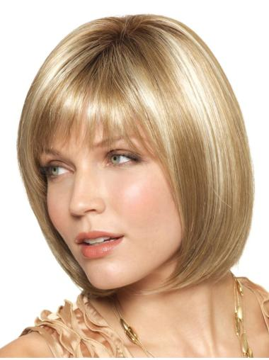 Blonde Nice Monofilament Synthetic Medium Wigs