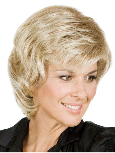 Exquisite Blonde Wavy Short Classic Wigs