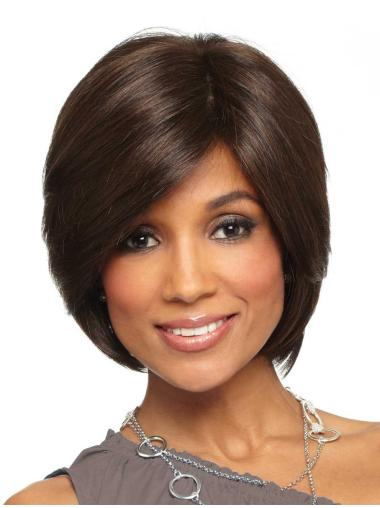 Lace Front Comfortable Straight Synthetic Medium Wigs