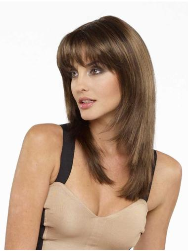 Brown Straight Long Synthetic Wigs