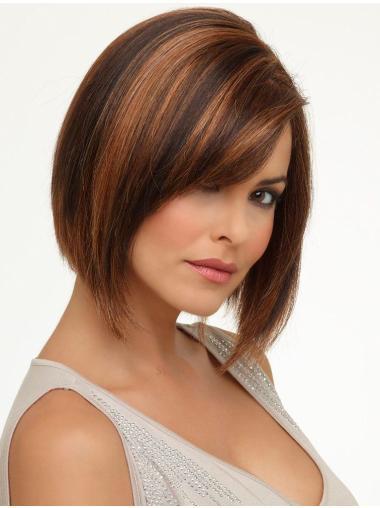 Auburn Convenient Lace Front Synthetic Medium Wigs