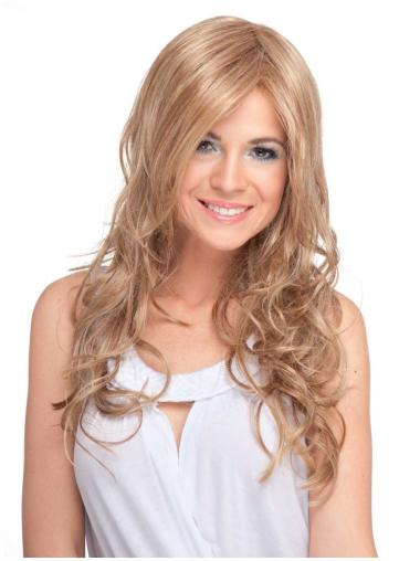 Radiant Blonde Curly Long Synthetic Wigs