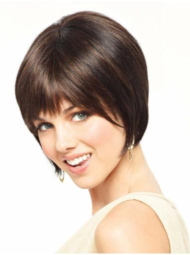Lace Front Glamorous Bobs Straight Short Wigs