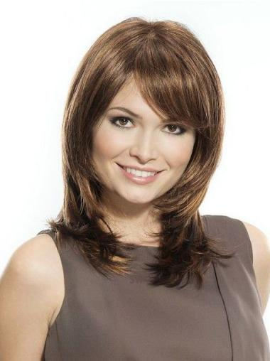 Lace Front Gorgeous Straight Synthetic Medium Wigs