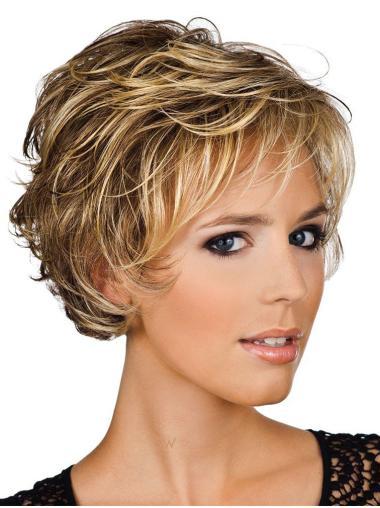 Preferential Blonde Wavy Short Human Hair Wigs 100 Human Hair Wigs