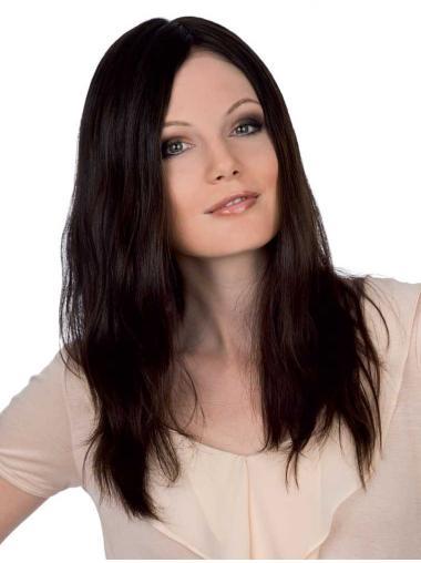 Monofilament Straight Remy Human Hair Fashion Long Wigs