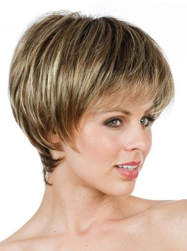 Preferential Lace Front Straight Short Petite Wigs