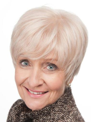 Stylish Lace Front Short Grey Wigs