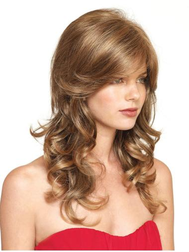 Blonde Curly Synthetic Trendy Long Wigs