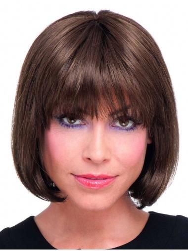 No-fuss Auburn Straight Chin Length Lace Wigs