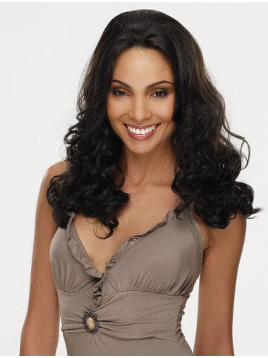 Online Black Curly Synthetic Long Wigs