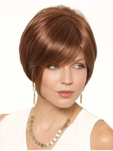 Sassy Auburn Bobs Lace Front Short Wigs