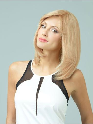 Blonde Monofilament Remy Human Hair Gentle Long Wigs