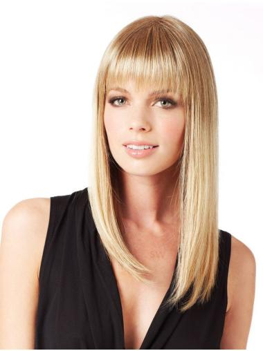 Discount Synthetic Blonde Lace Front Long Wigs