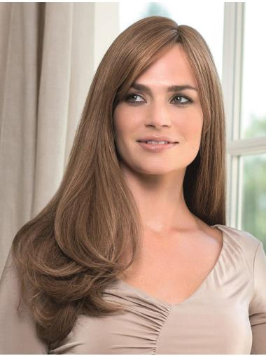 Blonde Monofilament Remy Human Hair Cosy Long Wigs