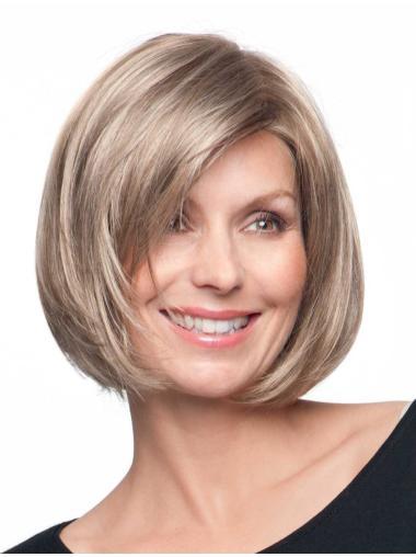 Blonde Braw Monofilament Synthetic Medium Wigs