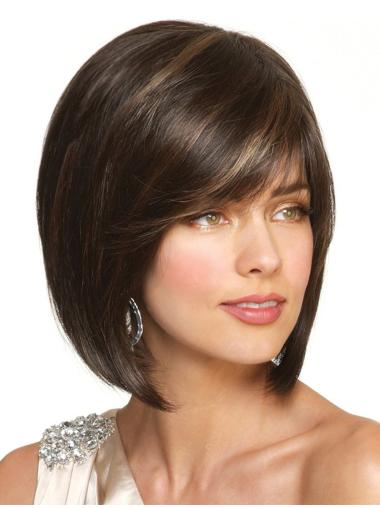 Tempting Lace Front Straight Chin Length Petite Wigs