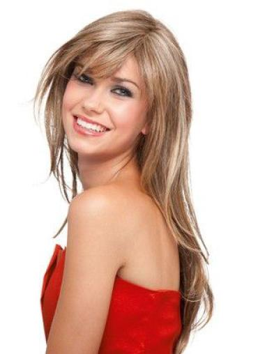 Affordable Blonde Lace Front Synthetic Long Wigs