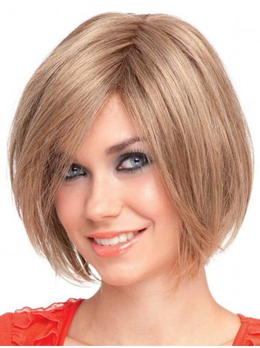 Blonde Straight Synthetic Stylish Short Wigs
