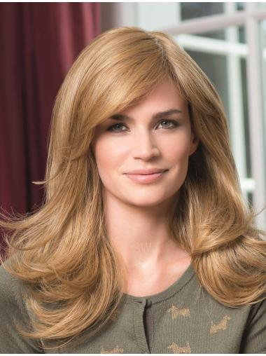 Synthetic Blonde Monofilament Long Wigs