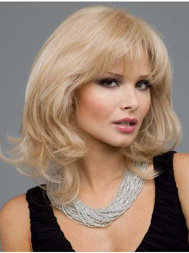 Flexibility Blonde Wavy Remy Human Hair Long Wigs
