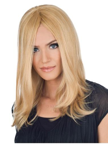 Blonde Straight Remy Human Hair Incredible Long Wigs
