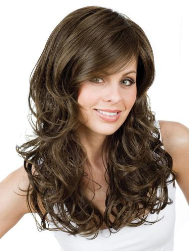 Style Brown Curly Long Synthetic Wigs
