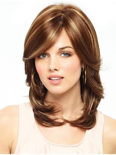 Auburn LayeLace Front Wavy Mature Long Wigs