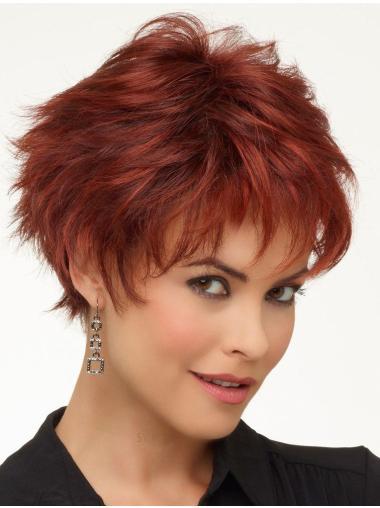 Lace Front Discount Boycuts Wavy Short Wigs