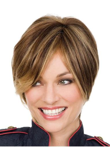 Durable Lace Front Straight Short Petite Wigs