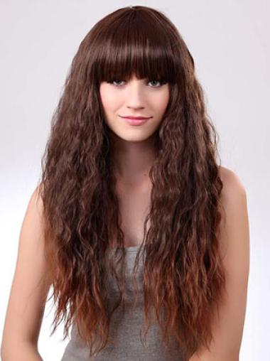 Remy Human Hair Long Fluffy Wavy Ombre Wigs