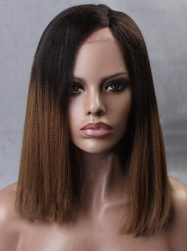 Inspired Ombre Medium Length Full Lace Human Hair Wig