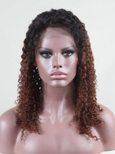 Curly Custom Full Lace Human Hair Wig with Baby Hair