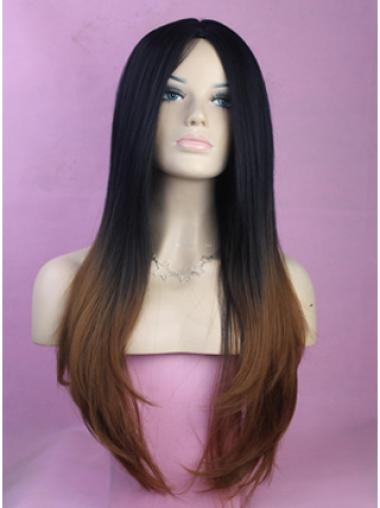 26 Inch Straight Lace Front 100% Remy Hair Ombre Wigs