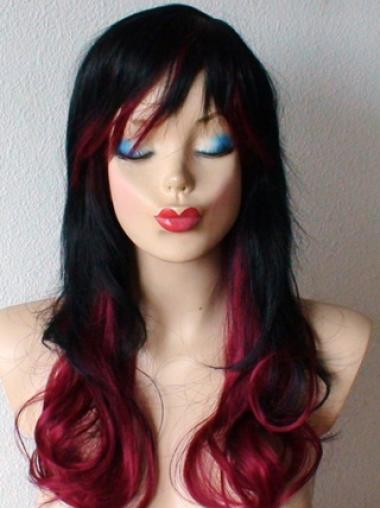 24 Inch wavy Lace Front 100% Remy Hair Ombre Wigs