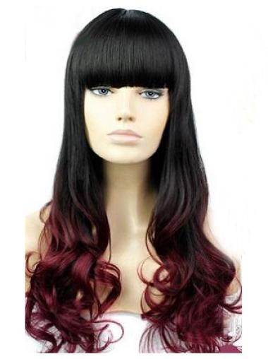 Amazing 24 Inch long Wavy Style Lace Front 100% Remy Hair Ombre Wigs