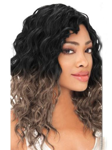 Gorgeous 20 Inch long Wavy Style Lace Front 100% Remy Hair Ombre Wigs