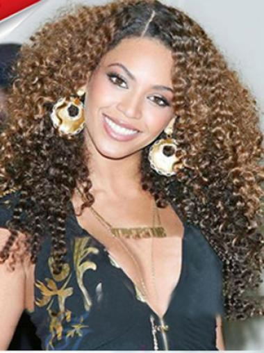 Amazing 24 Inch long Curly Style Lace Front 100% Remy Hair Ombre Wigs
