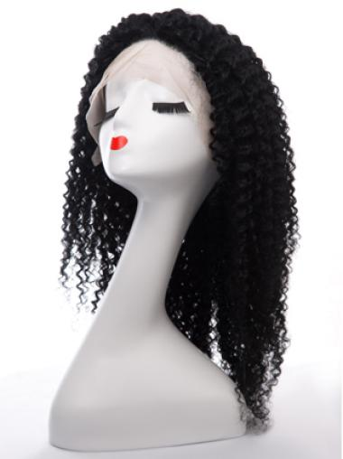 Kinky curly Classic Custom African American Celebrity Hairstyle Lace Front Wig 100% Human Hair 22 Inches