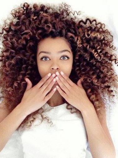 Cute Girl Kinky Curly Human Hair