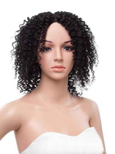 12 Inches Kinky Curly Lace Front 100% Human Hair Wig