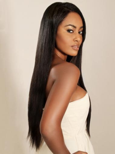 Beautiful Yaki Straight Style Remy Human Hair