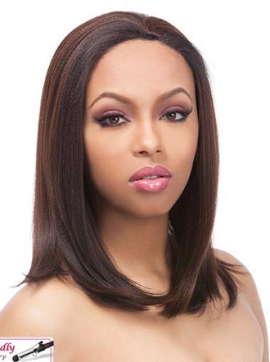 Yaki Shoulder Length Auburn Human Wigs
