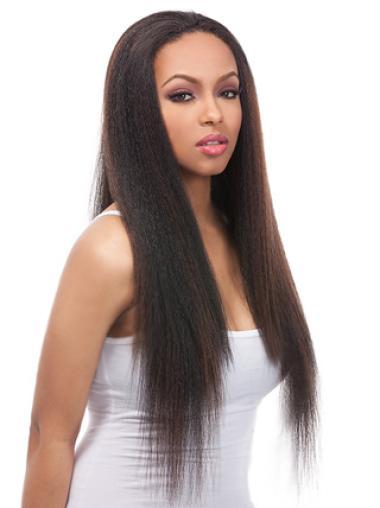 Yaki  Straight Black Real Human Wigs