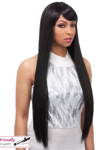 Yaki Lace Front Black Human Hair Wigs