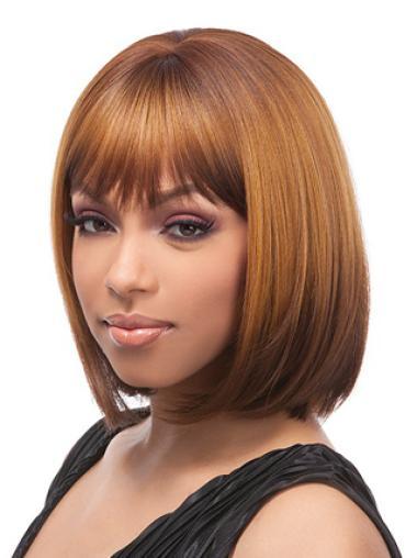 Yaki Chin Length Brown Colour Bob Wigs