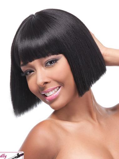 Yaki Chin Length Lace Front Human Wigs