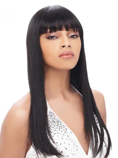 Yaki Fasion With Bangs Straight Wigs
